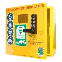 1000 model - outdoor heated defibrillator cabinet with code lock
