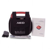 The defibrillator comes with a range of accessories