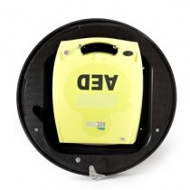 The cabinet is designed to hold a defibrillator unit only