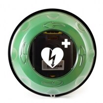 The Rotaid Solid Plus cabinet has a circular front vision panel