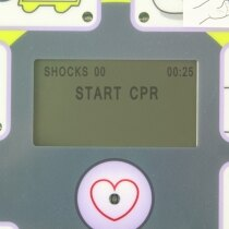 The Zoll features an LCD screen to display text prompts
