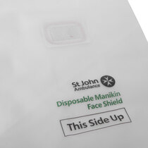 These disposable manikin face shields from St John Ambulance