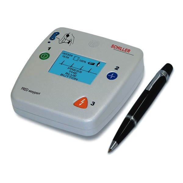 A small an compact AED, the FRED Easyport can be easily stowed away