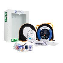 HeartSine Samaritan 350P with Cabinet and Prep Kit