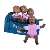 Laerdal Baby Anne CPR Training Mannequin Four Pack - Dark Skin