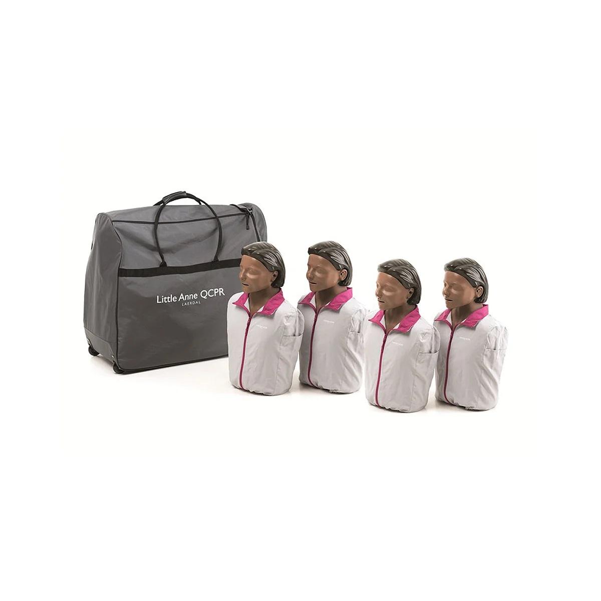 Little Anne QCPR Training Manikin Four Pack - Dark Skin