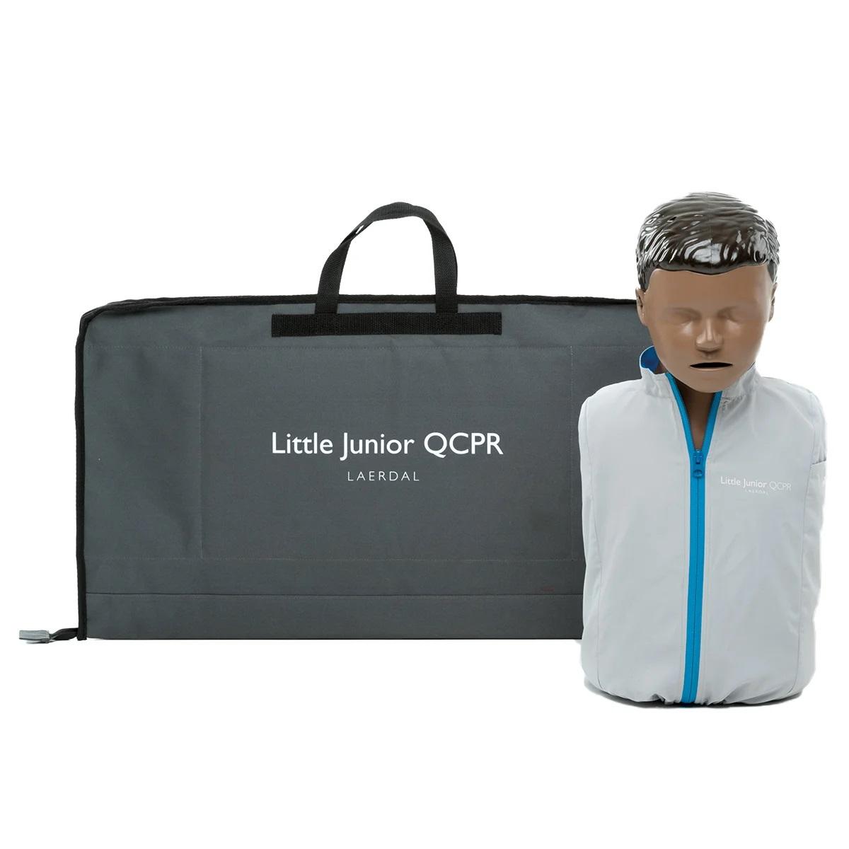 Little Junior QCPR Training Manikin with Carry Bag - Dark Skin