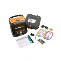 The Lifepak CR-T defib trainer unit is supplied as part of a kit