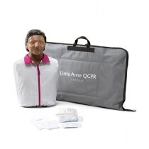 Laerdal Little Anne QCPR Training Manikin with Carry Bag - Dark Skin
