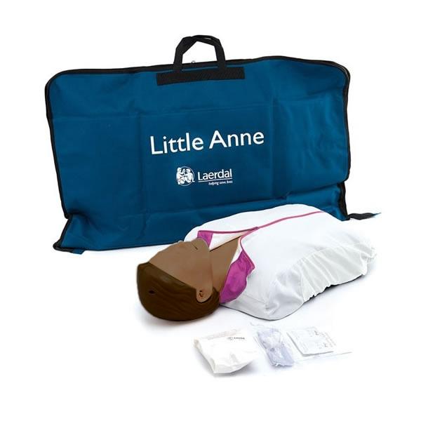 Laerdal Little Anne CPR Training Manikin with Soft Pack - Dark Skin
