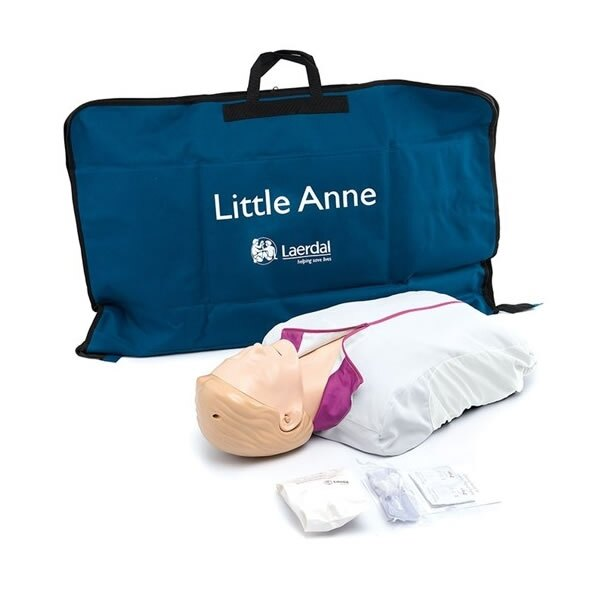 Little Anne CPR Training Mannequin with Soft Pack - Light Skin
