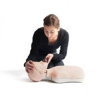 Realistic oral and nasal passages allows training of mouth-to-mouth ventilations