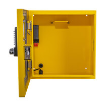 Constructed from stainless steel with a yellow powder coating for protection against corrosion
