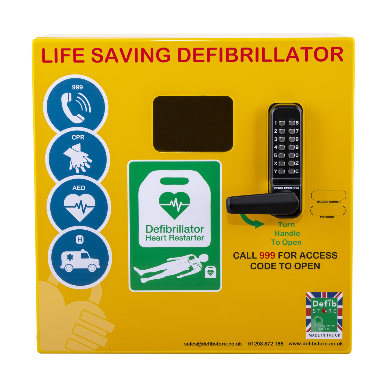 Stainless Steel Defibrillator Cabinet with Code Lock