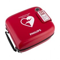 Bright red finish for ease of identification in an emergency