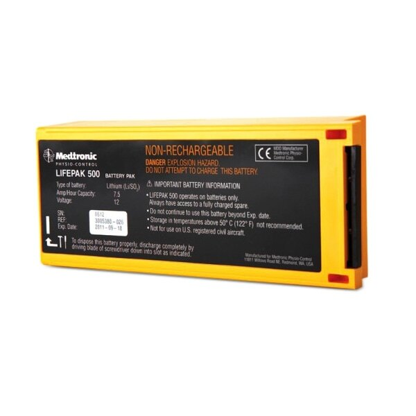 Lifepak 500 Non-Rechargeable Battery Pak
