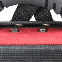 The Schiller carry case has an easy fastener for quick opening in an emergency