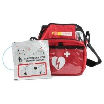 The Schiller Defib is supplied with a soft carry case and adult pads