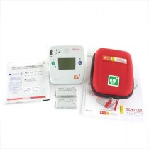 The Schiller FRED Easyport is a pocket size defibrillator, supplied with a range of accessories