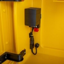 Thermostatically controlled mains powered heating