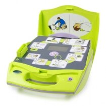 Zoll AED Plus features easy to follow pictorial instructions
