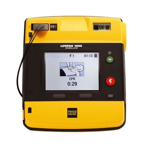Physio-Control Lifepak 1000 Defibrillator with ECG Display and Manual Override