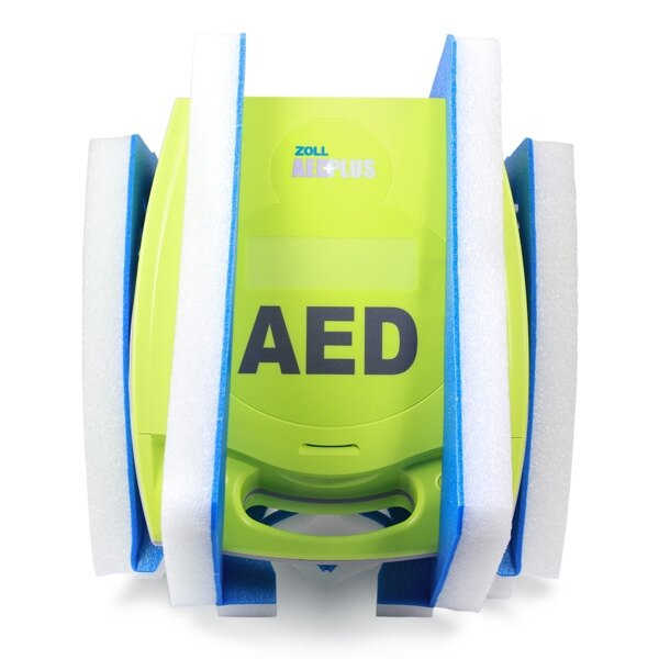 The Zoll AED Plus is packed securely and provided with a range of accessories