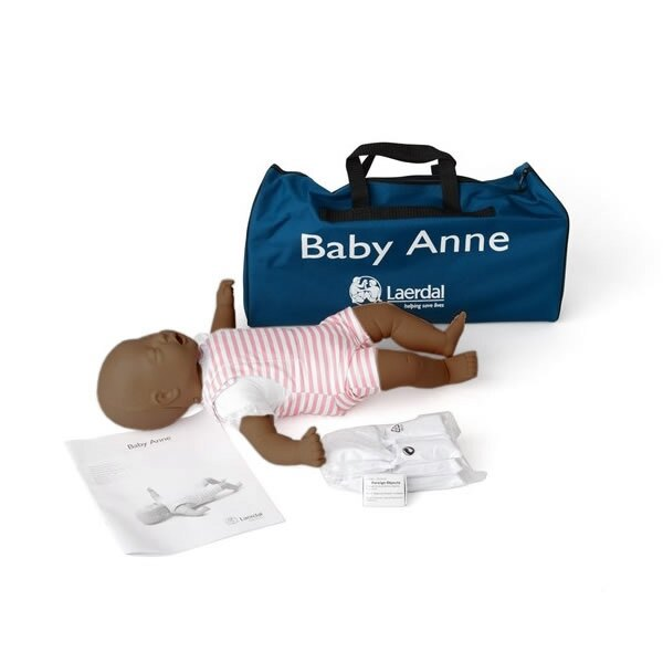 61a408e0b10 Laerdal Baby Anne CPR Training Mannequin with Soft Pack - Dark Skin