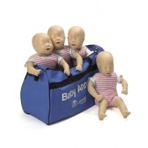 Image of the Laerdal Baby Anne CPR Training Mannequin Four Pack - Light Skin