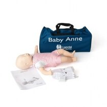 Image of the Laerdal Baby Anne CPR Training Mannequin with Soft Pack - Light Skin