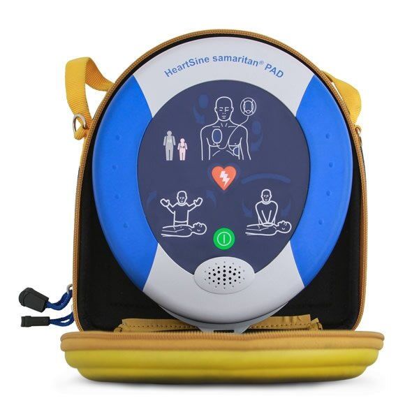 HeartSine Samaritan PAD 350P supplied complete with carry case