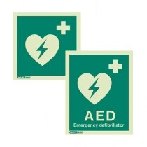 Image of the AED Defibrillator Sign