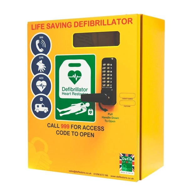 Genial Outdoor Defibrillator Cabinet With Code Lock, Heating System And LED Light
