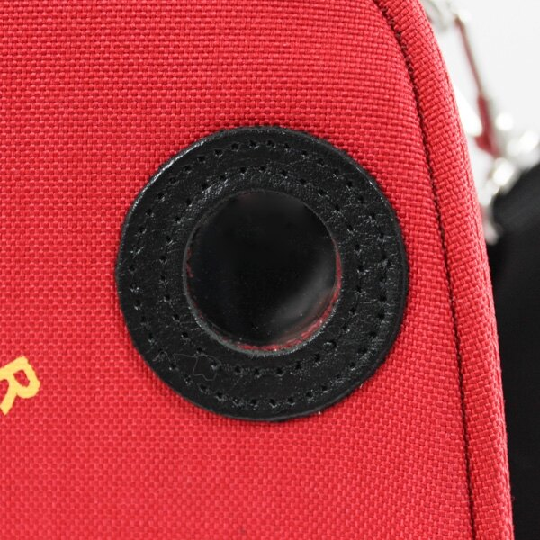 The Schiller carry case has a bright red finish for ease of identification