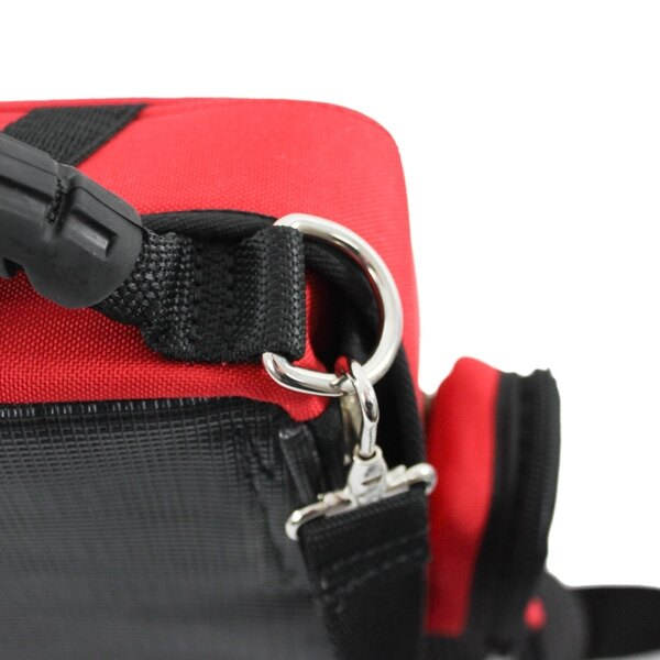 The Schiller case can also be carried using the carry strap